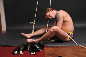 Daniil and a Cat by vishstudio