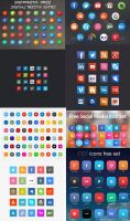 Free Download Social Media Icons by Fusionrohan