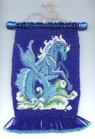 Hippocampus Beaded Tapestry by Featherthorn