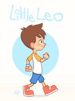 Little Leo walking in place by LuigiL