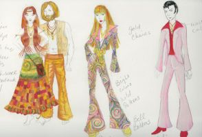 1970s clothing by Cherieosaurus