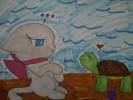 kitty and turtle by HopeandStruggle