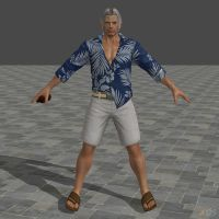 DOA5U Brad Wong Casual costume (Updated) by zareef