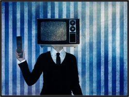 Television and leather tie by Joalita-lady