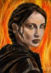 The Girl On Fire by jecamartinez