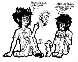 ~+ Karkat and Sollux: Discover the bunnies. +~ by Zalehard13