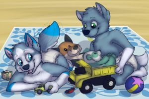 Let's Play Trucks! by tugscarebear