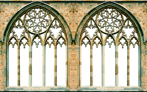 Gothic Window Arches by LilipilySpirit
