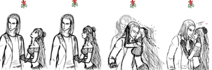 Under the Mistletoe ~ Faw x Vergil by sethrielle