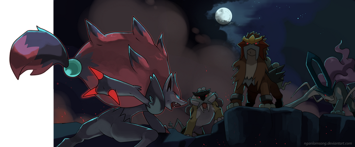 Zoroark and the Beasts trio by nganlamsong