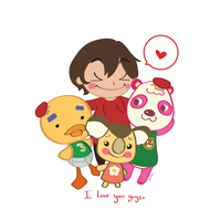 Animal Crossing Love by nosewhirly