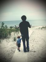 Father and son by ToxicChick