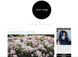 Siren Songs Blogger Template by tiny-moon