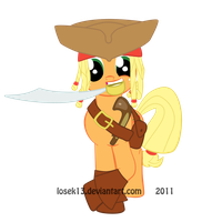 Cpt. Applejack Sparrow by Losek13