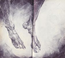 Preserved Human Feet by SketchbookNoir