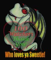 100 Watchers by sweetmarly