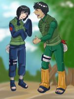Shizune and Gai interact by -babykefka-