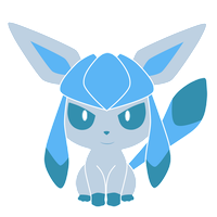 Glaceon Pokedoll label vector by Ika-chian