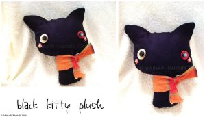 Black kitty plush by ChocoAng3l