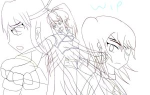 WIP ART TRADE  (I'llGiveYouParadise) Part 2 by RunnerGuitar