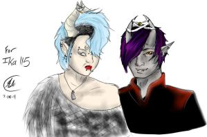 Myxoth and the Devil Queen by im-Rem