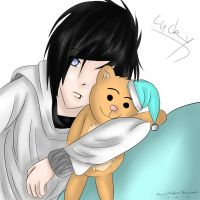 Lucky and His Teddy by BloodyBlade123