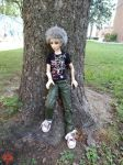 Killua by a Tree 5 by Shuichiboy