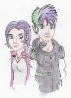 spike and rarity by Hazelgirl