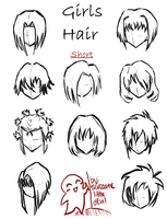 Hair styles for girls -short- by SarcasticLittleDevil