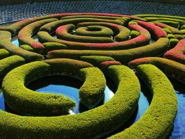 Getty Center Garden by Humble-Novice