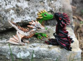 Baby dragons - figurine by Gloriosa-Art