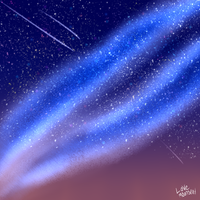 Night Sky Practice 2 by LoveMoonspirit