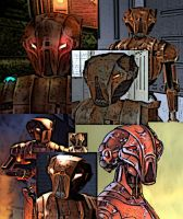 Collage of HK-47 by LadyIlona1984