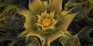 Electric Flower [Large Render 8000x4000] by gliscameria