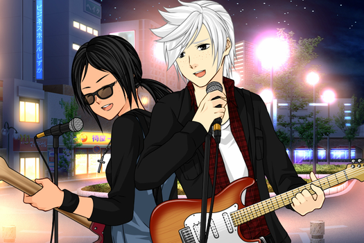 Teen Lincoln And Ronnie Anne - Rock The Night Away by dksponge13