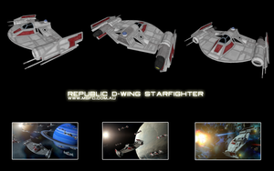 Republic D-wing Starfighter by Majestic-MSFC