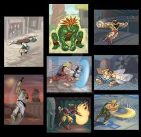Classic StreetFighter series by Stnk13