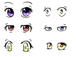 6 Eye Styles Reference by Frostielichious