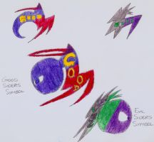 The Little Siders- Good and Evil Symbols by DarkOliver