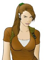 The Real Laura Croft Colored by Dystopia3000