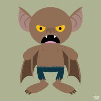 Almost Daily Characters: Man-Bat by striffle