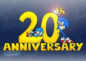 Sonic 20th Anniversary by RougeBatGirl86