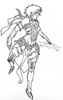Draconic Sorcerer.  Inked. by Redkills