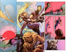 Uncanny X Men  525 Page 04 Spread by frixinthepixel