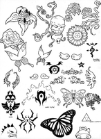 .:Tattoo Flash 1:. by I5Spiders