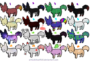 5 Point Wolf Adopts! (6 left!) by FrostDragon-Adopts