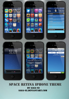 space Retina iphone theme by sasa-92