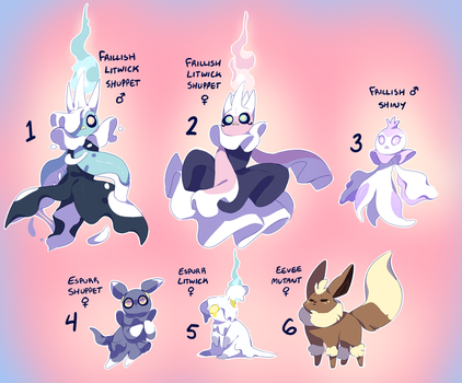 PKMNA: Ghost Kids Clutch (OPEN) by Purrincely