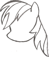 My Little Pony SKetch - Rainbow Dash's Head by AncientOwl