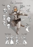 Character Model Sheet - Jon Silverman by charlestanart